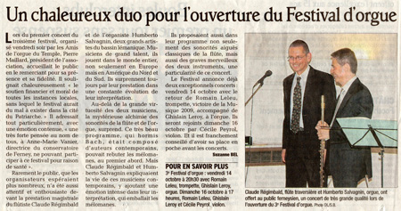3e festival des Amis de l'Orgue de Ferney-Voltaire
